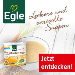 Egle - Gesunde Ernährung mit fertigen Suppen und Soßen.